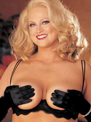 Shirley Of Hollywood X331 Plus Size Half/shelf Bra (black)