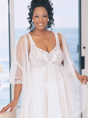 Shirley Of Hollywood X3595 Plus Size Nightdress (white)