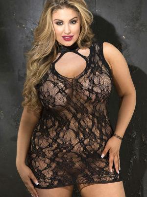 Shirley Of Hollywood X90393 Plus Size Chemise (black)