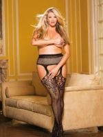 Shirley Of Hollywood X90415 Plus Size Stockings (black)