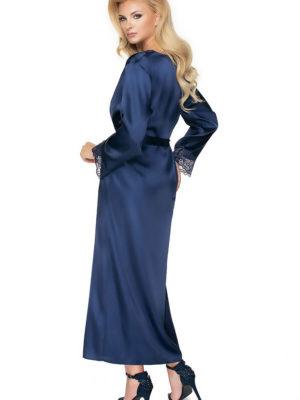 Irall Satin Collection 'yoko' Robe (navy Blue)