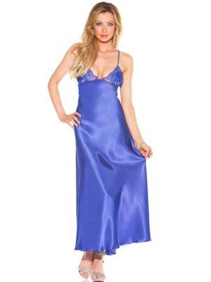 Shirley of Hollywood 20300 Bedroom Wear Nightdress (Blue)